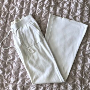Juicy Couture White Velour Track Pants